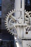 Dam wheel cogs royalty free stock image
