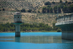 Dam whit blue sky Stock Images
