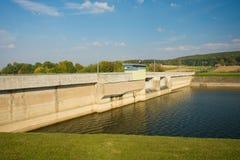 Dam on the Wislok river Stock Photo
