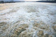 Dam in Wloclawek - Polska Royalty Free Stock Photos