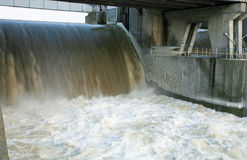 Dam in Wloclawek - Polska Stock Images