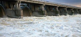 Dam in Wloclawek - Polska Royalty Free Stock Photo