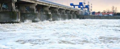 Dam in Wloclawek - Polska Stock Photo