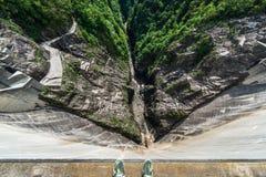 Dam zonder water Royalty-vrije Stock Foto