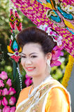 dama chiangmai festiwalu kwiatu dama Obrazy Stock