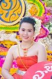 dama chiangmai festiwalu kwiatu dama Fotografia Royalty Free