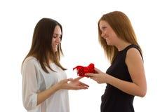 Dama daje prezentowi Obrazy Royalty Free