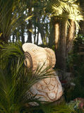 Dama de Elche figure in palm tree garden. Alicante. Spain Royalty Free Stock Photo