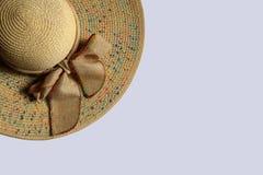 Dama kapelusz wyplata azjata stylu modę Zdjęcia Stock