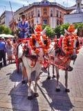 Dama kareciany kierowca, Seville obraz stock