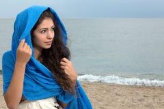 Dama na plaży obraz royalty free