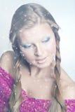 dama śnieg Obrazy Royalty Free