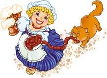 dama oktoberfest royalty ilustracja
