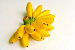 Dama Palcowi banany Odizolowywający na Białym tle Fotografia Stock