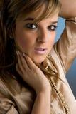 dama piękny portret Obraz Royalty Free