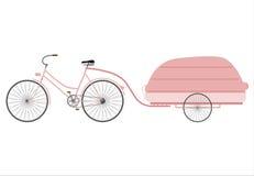 Rower z aerodynamiczną przyczepą Fotografia Royalty Free
