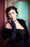 dama rocznik luksusowy stylowy Fotografia Royalty Free