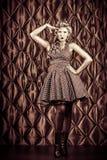 Dama saluty Fotografia Stock