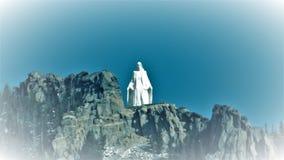 Dama Skaliste góry Zdjęcie Stock