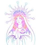Dama stroskanie Oddanie Niepokalany serce Błogosławiony Virg ilustracji