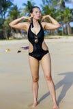 Dama symbolu seksowny swimsuit obrazy royalty free