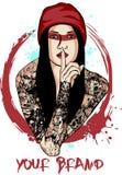 Dama Tatuująca Zdjęcia Stock