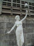 Dama trzyma lampę Zdjęcie Stock