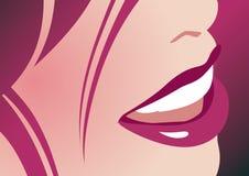 dama uśmiech Zdjęcie Stock