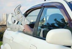 Dama w biel Zdjęcie Royalty Free