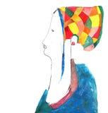 Dama w czapeczce Zdjęcie Royalty Free