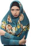 Dama w Hijab Patrzeje Gniewny zdjęcie royalty free