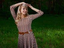 Dama w lesie Zdjęcia Stock