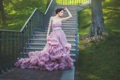 Dama w luksusowej sukni fotografia stock