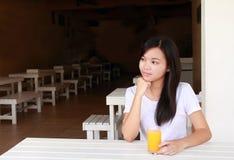 Dama w restauraci Zdjęcie Stock