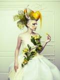 Dama z awangardowym włosy Fotografia Royalty Free