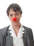 Dama z czerwonym nosem Zdjęcia Stock