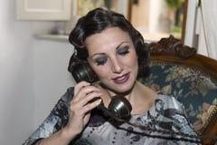 Dama z włosy w retro stylu Fotografia Stock