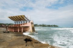 Damage. Done after hurricane passed by in Limon port-town, Costa Rica Stock Images