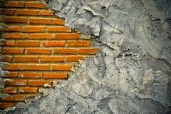 Damage brick wall fragment Royalty Free Stock Photo