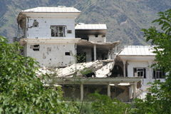 Damage in Bruner District Pakistan from the Taliban Royalty Free Stock Images