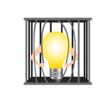Damage the cage for freedom idea. Stock Images