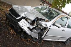 Damage car. Gray damage car outdoor - fuse Royalty Free Stock Photos