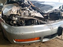 Condition of the car accident Royalty Free Stock Image