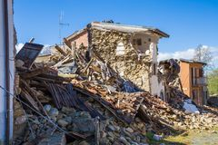 The damage caused by the earthquake that hit central Italy in 20 Royalty Free Stock Photo