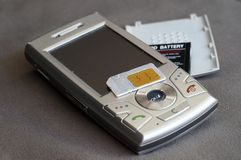 Damage cellular phone Royalty Free Stock Images