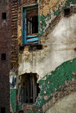 Damage in City of Industry, Ruined Brick Building Royalty Free Stock Photo