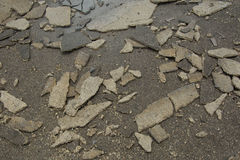 Damage of concrete floor Stock Photography
