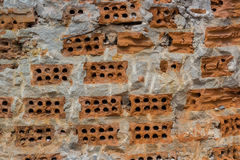 Damage contruction brick Royalty Free Stock Photography