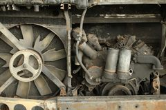 Damage engine. Wait for recycle Royalty Free Stock Image