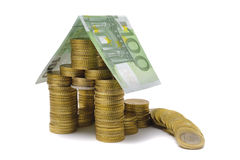 Euro currency crisis Royalty Free Stock Photo